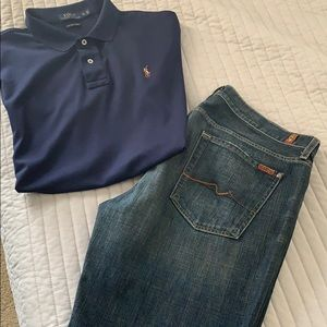 7 of all man kind boot cut jeans